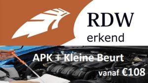 APK + Kleine Beurt vanaf €108