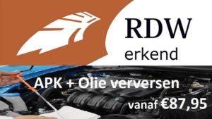 APK + Olie verversen vanaf €87,95