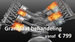 THP motorproblemen granulaat kleppenreinigen behandeling Granulaat behandeling